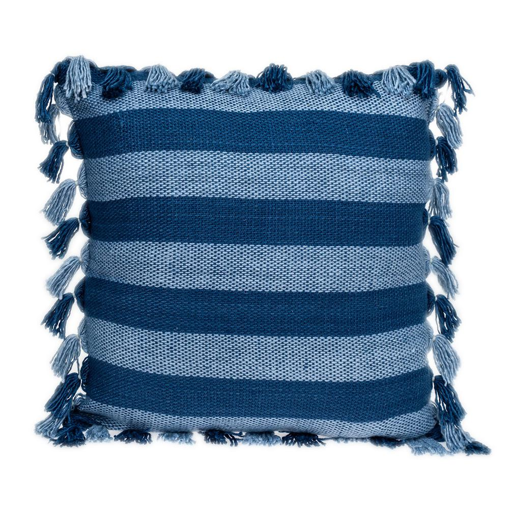 Rustic Bohemian Blue Throw Pillow - 383111. Picture 1