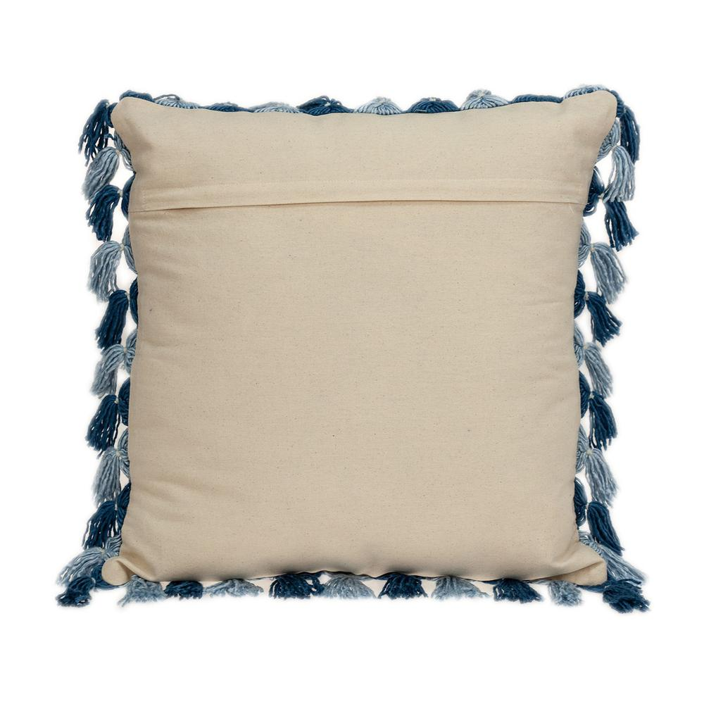 Rustic Bohemian Blue Throw Pillow - 383111. Picture 3