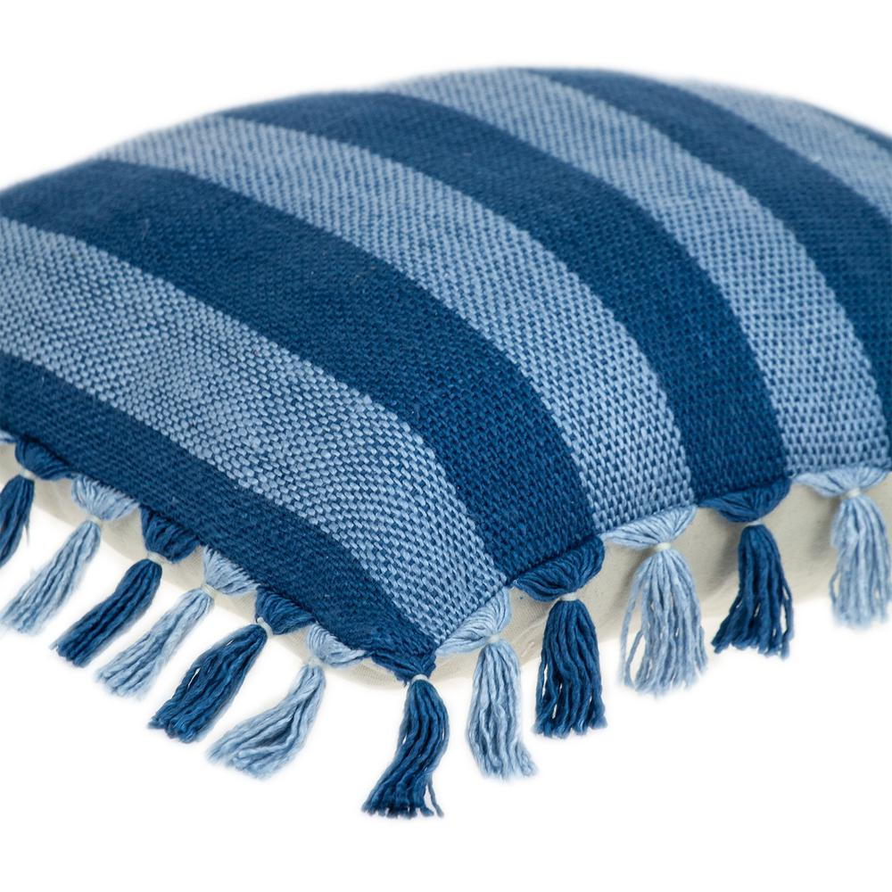 Rustic Bohemian Blue Throw Pillow - 383111. Picture 5