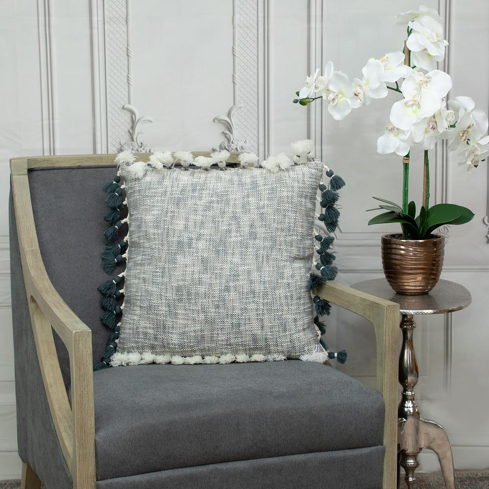 Slate Grey Throw Pillow - 383112. Picture 2