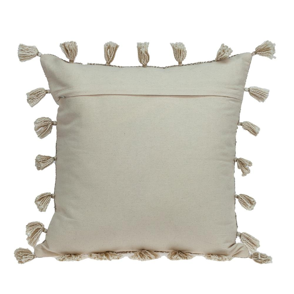 Neutral Sand Woven Throw Pillow - 383113. Picture 3