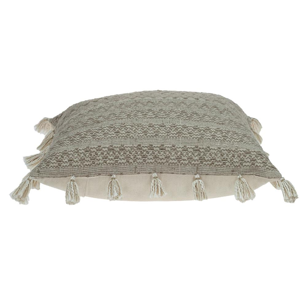 Neutral Sand Woven Throw Pillow - 383113. Picture 4