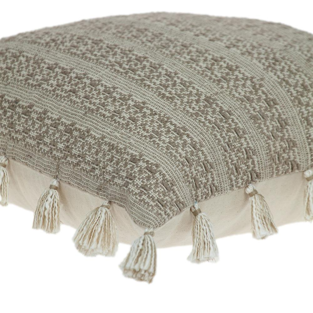 Neutral Sand Woven Throw Pillow - 383113. Picture 5