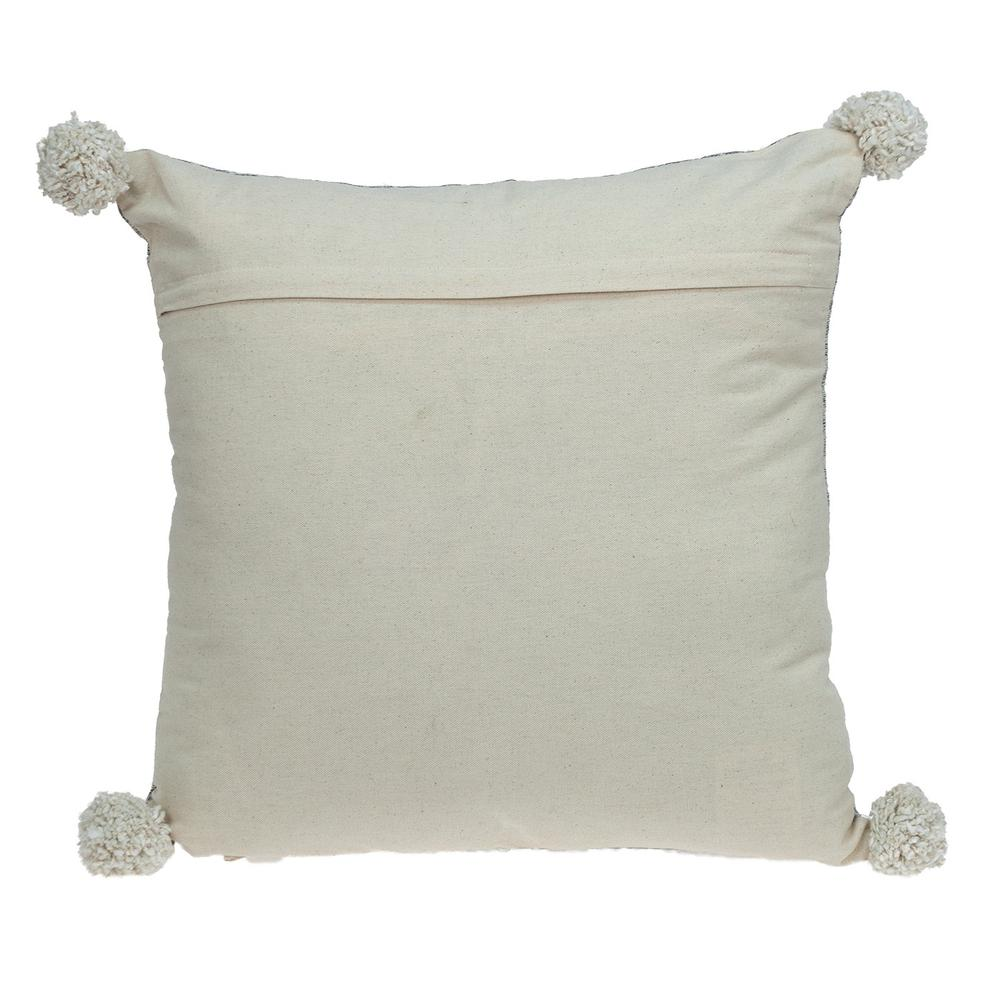 Gray Pearl Pom Throw Pillow - 383115. Picture 3