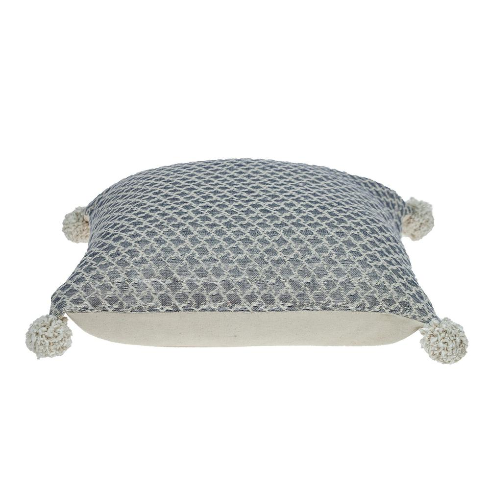 Gray Pearl Pom Throw Pillow - 383115. Picture 4