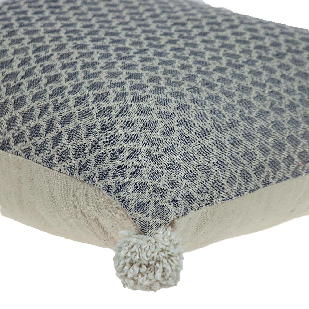 Gray Pearl Pom Throw Pillow - 383115. Picture 5