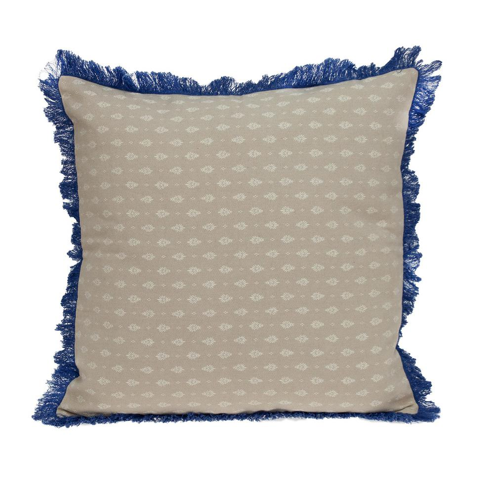 Oyster Beige Throw Pillow - 383116. Picture 1