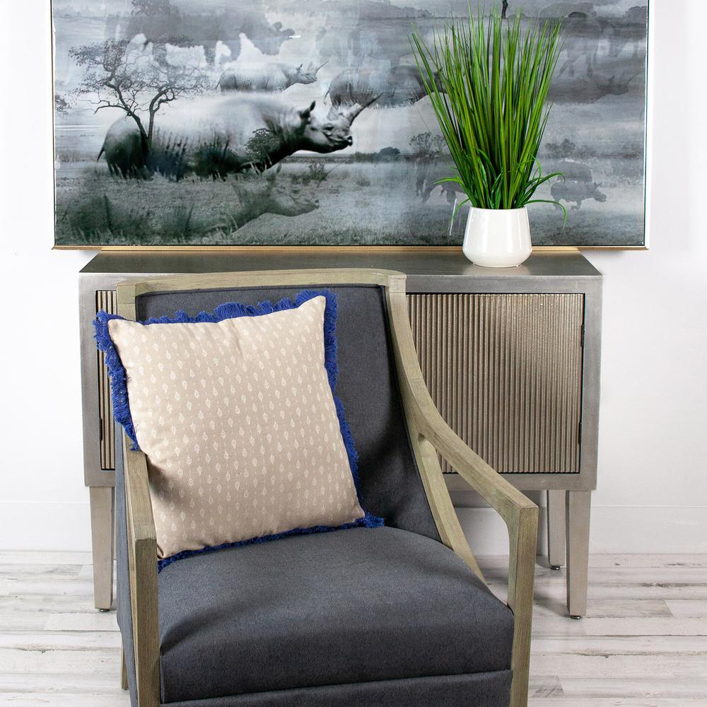 Oyster Beige Throw Pillow - 383116. Picture 2
