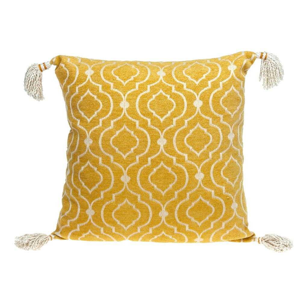 Daffodil Yellow Throw Pillow - 383117. Picture 1