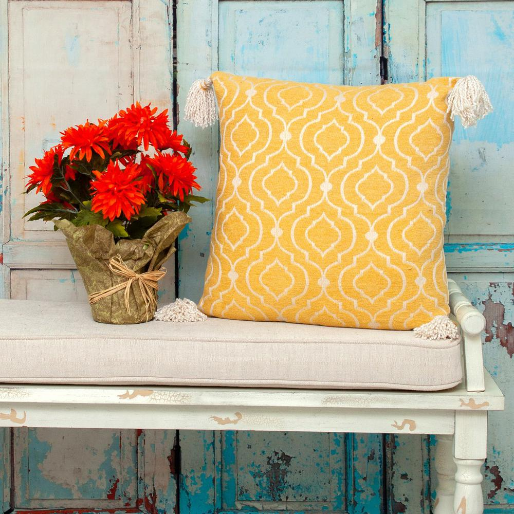 Daffodil Yellow Throw Pillow - 383117. Picture 2