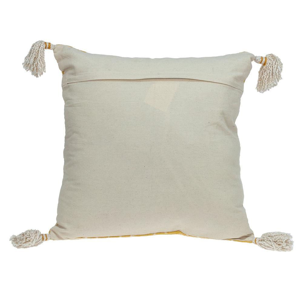 Daffodil Yellow Throw Pillow - 383117. Picture 3