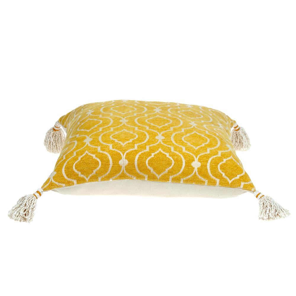 Daffodil Yellow Throw Pillow - 383117. Picture 4