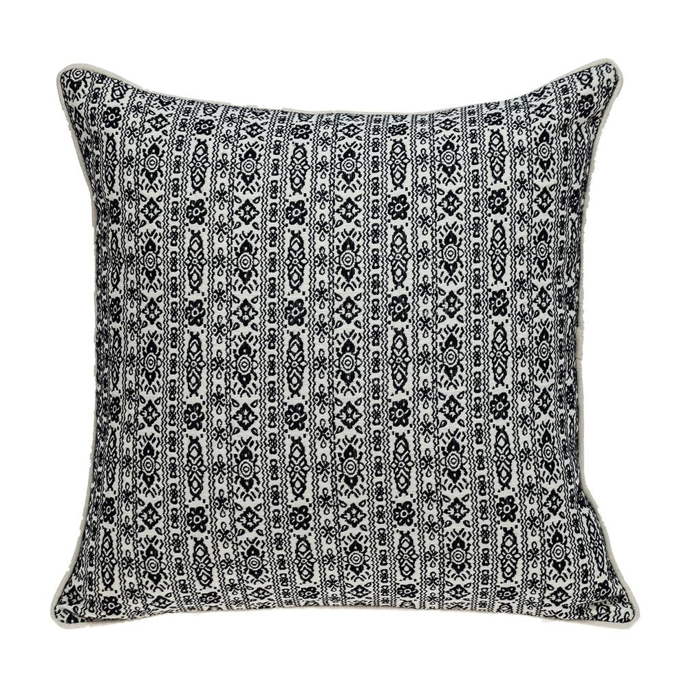 Black and White Vintage Design Throw Pillow - 383120. Picture 1