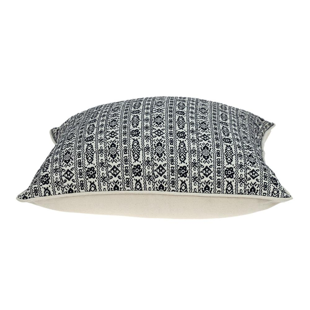 Black and White Vintage Design Throw Pillow - 383120. Picture 4