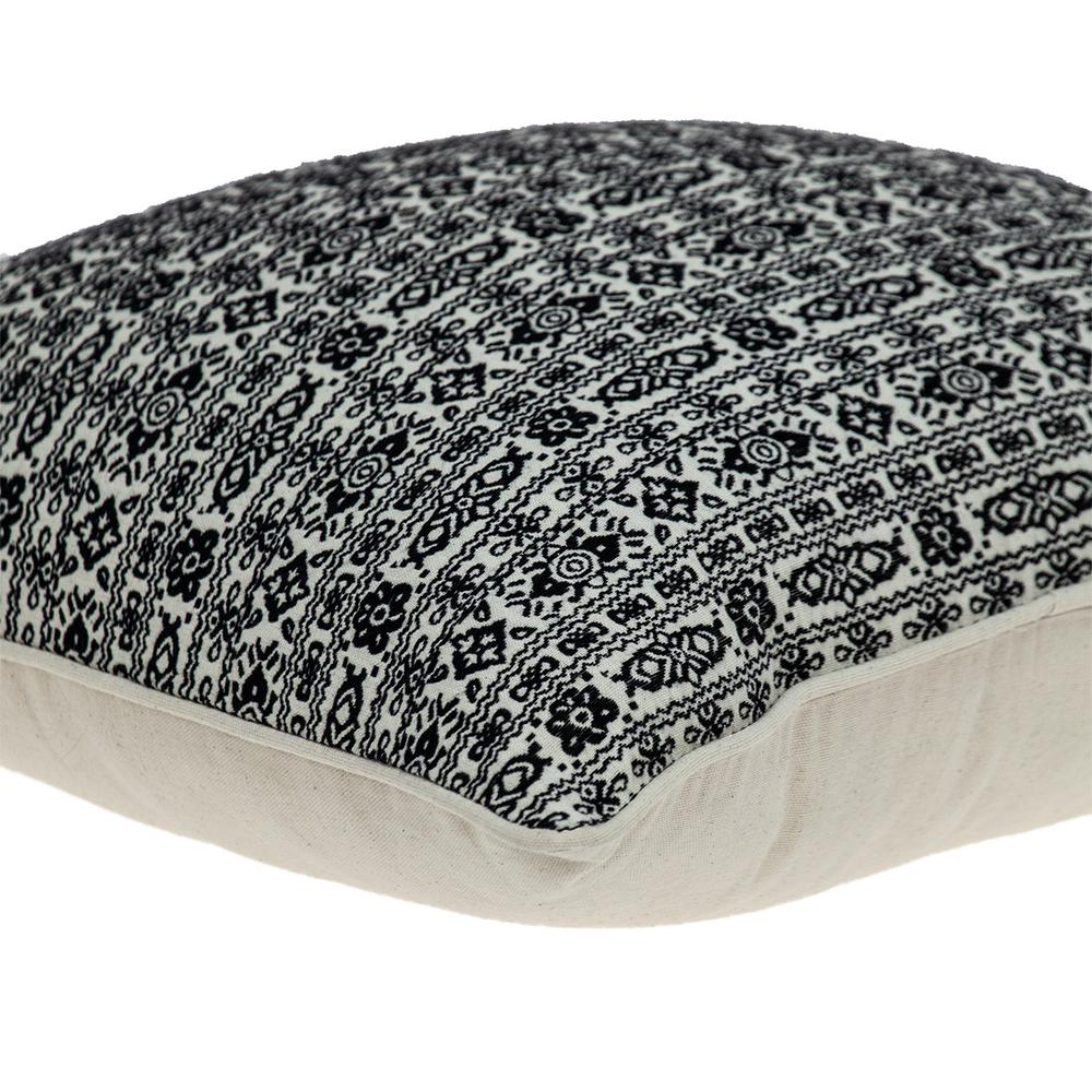 Black and White Vintage Design Throw Pillow - 383120. Picture 5