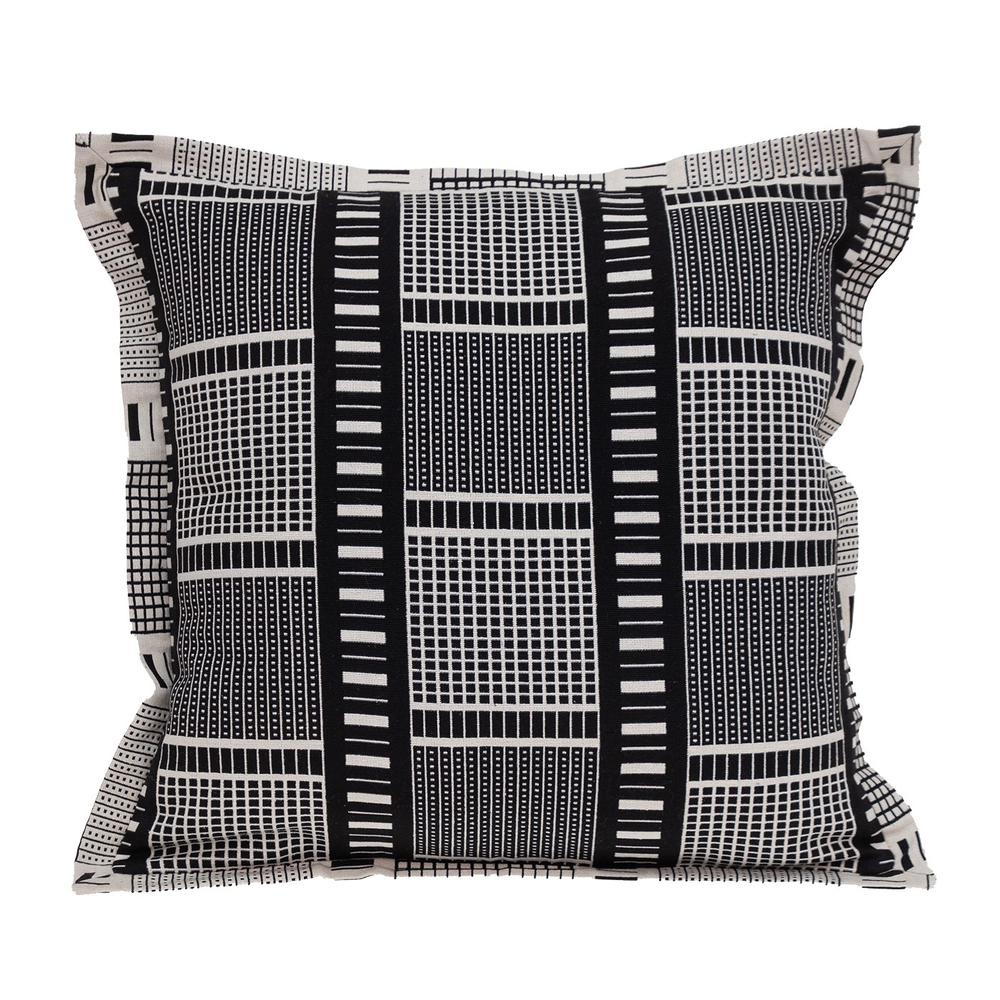 Black and White Abstract Stripes Throw Pillow - 383122. Picture 1