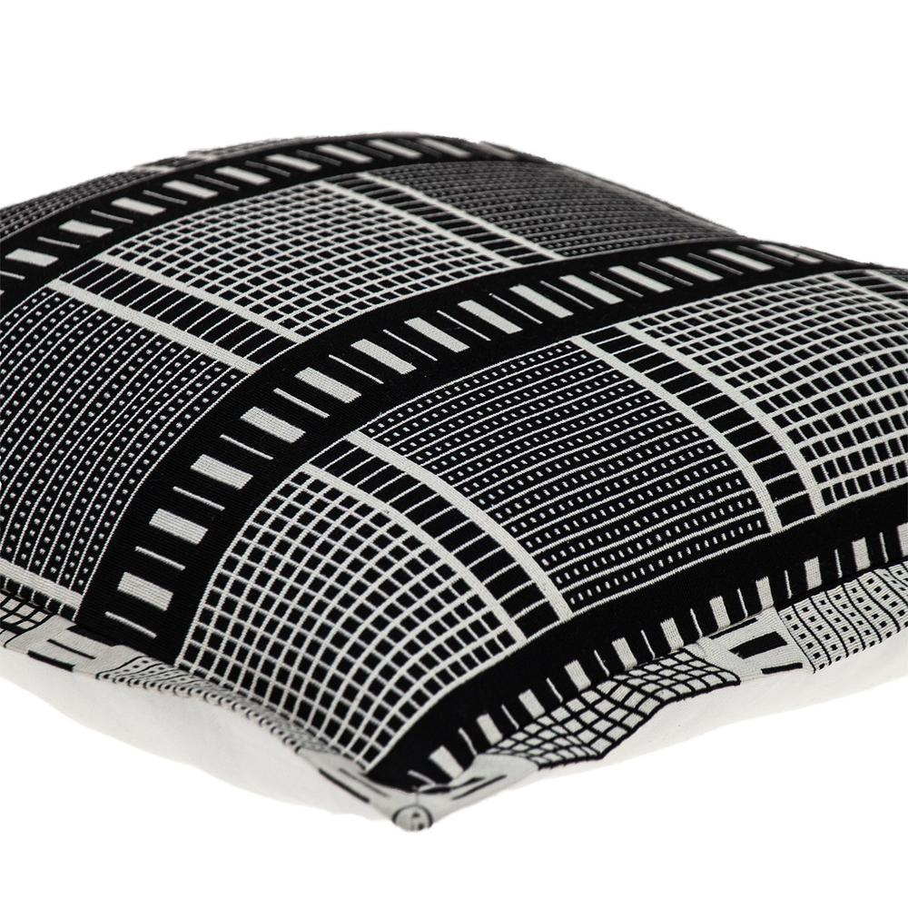 Black and White Abstract Stripes Throw Pillow - 383122. Picture 5