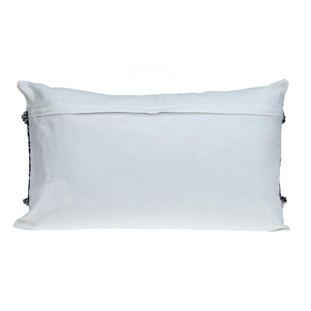 Black and White Patched Throw Pillow - 383126. Picture 3
