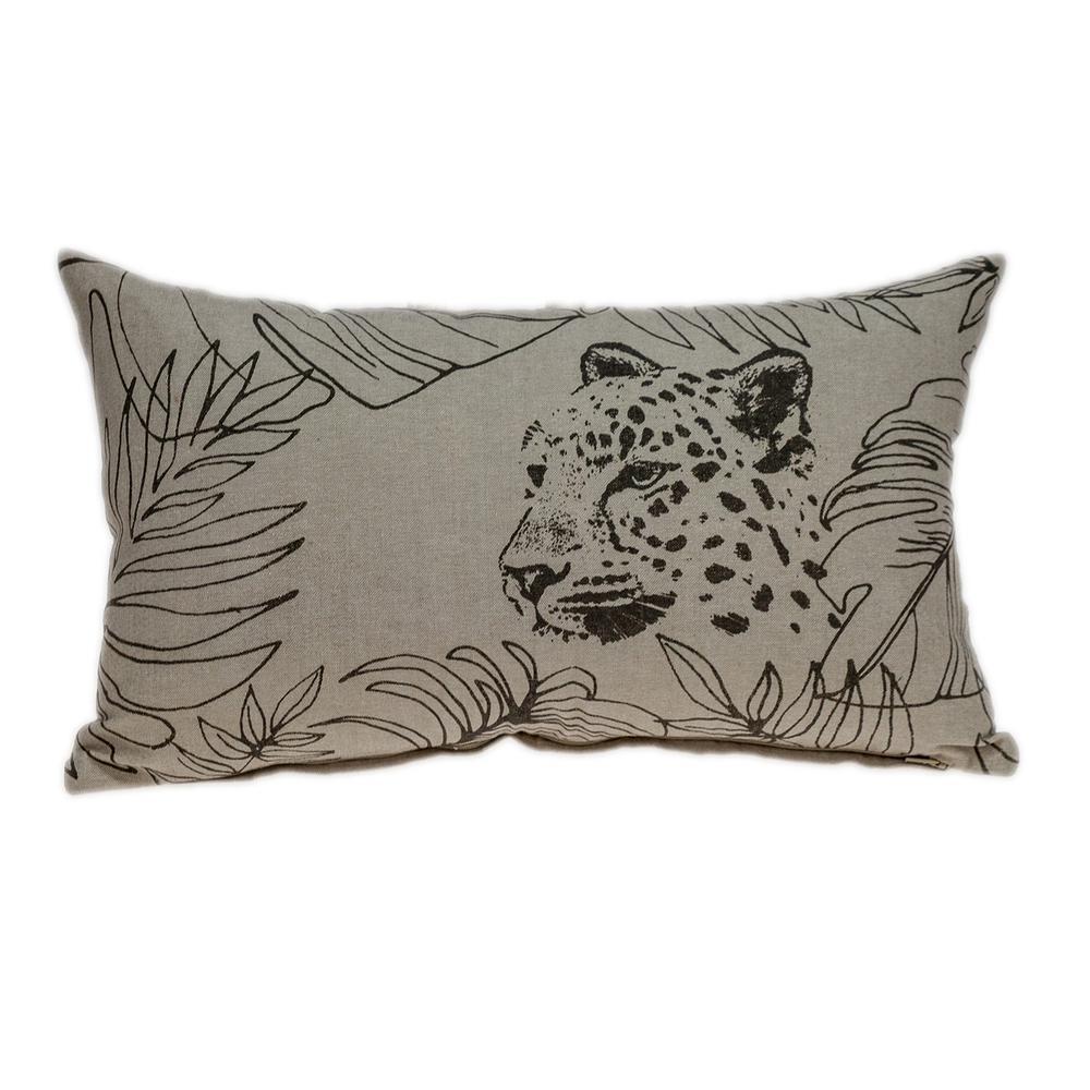 Jaguar Silhoutte Lumbar Throw Pillow - 383138. Picture 1