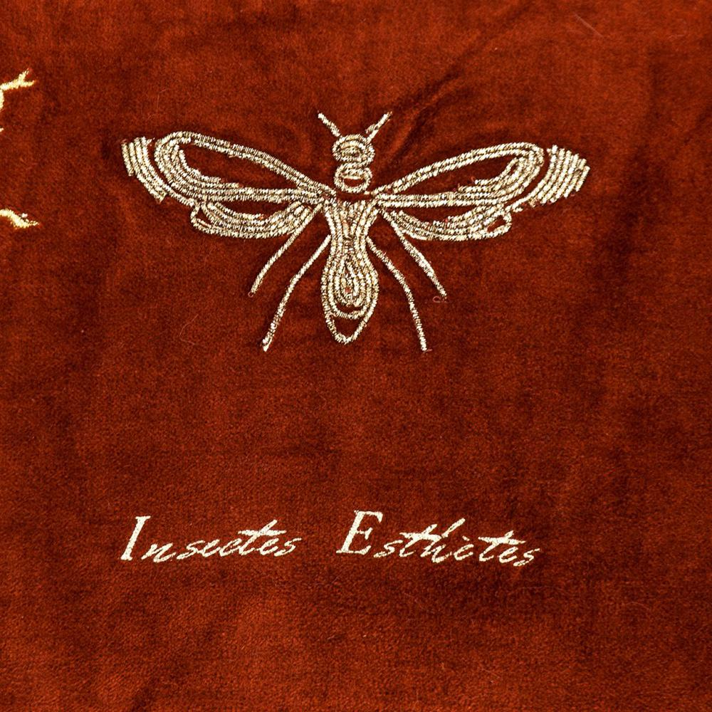 Golden Insects Velvet Throw Pillow - 383140. Picture 6