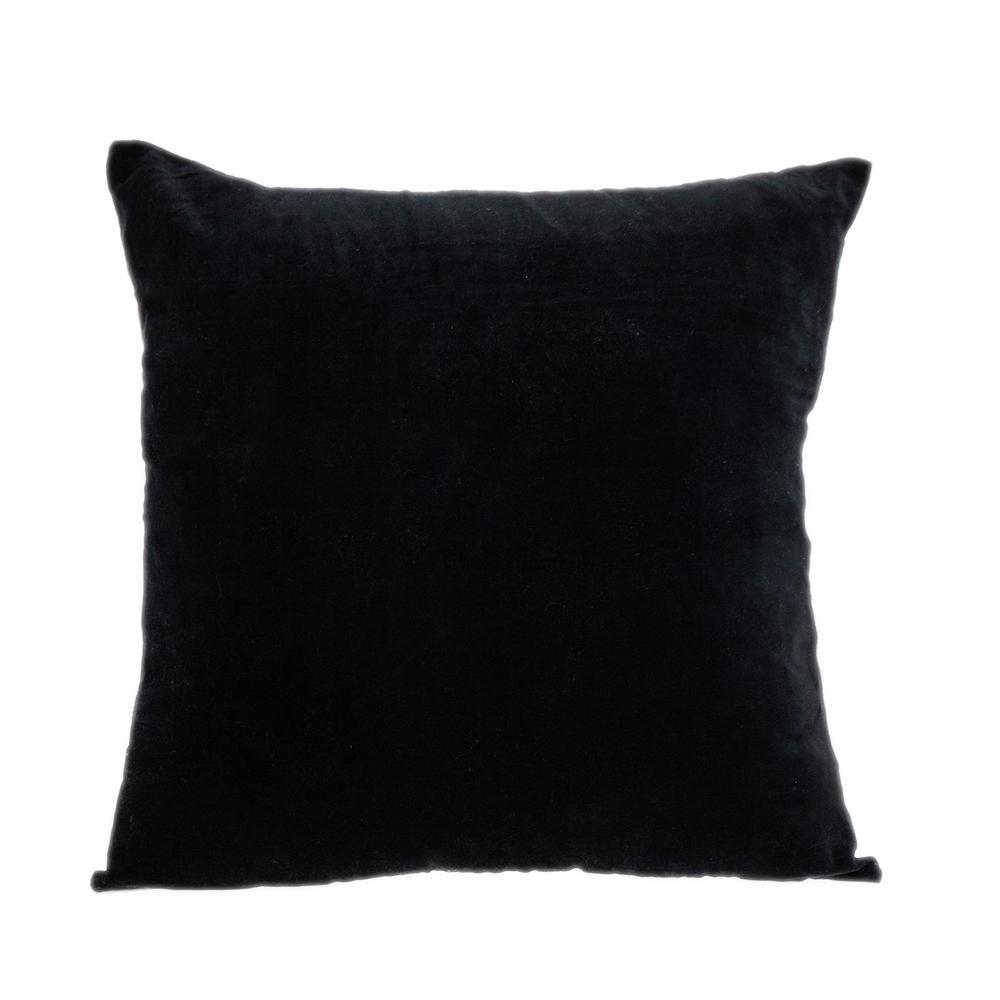 Black Velvet Two Tone Throw Pillow - 383141. Picture 1