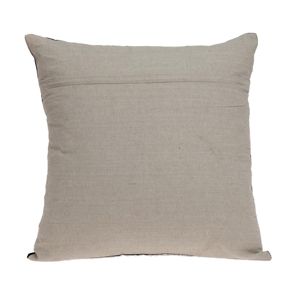 Black Velvet Two Tone Throw Pillow - 383141. Picture 3