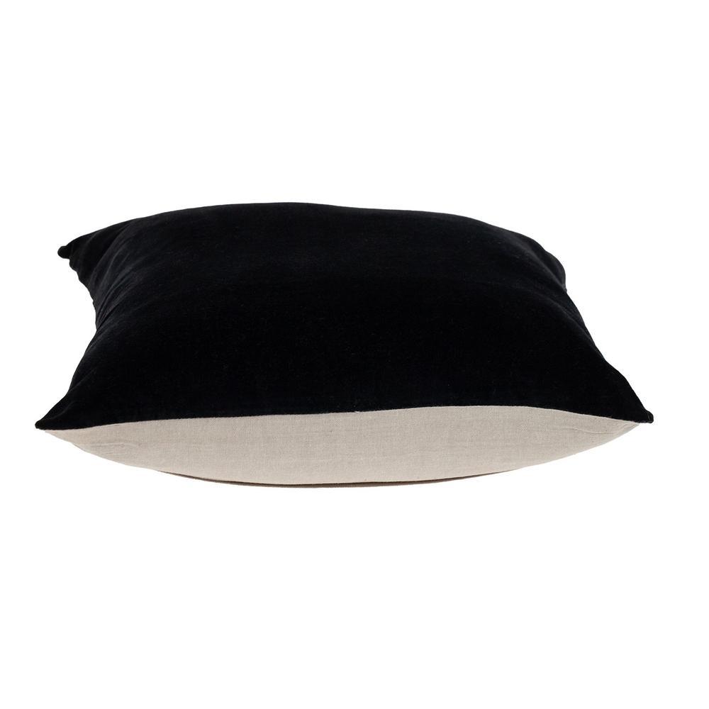 Black Velvet Two Tone Throw Pillow - 383141. Picture 4