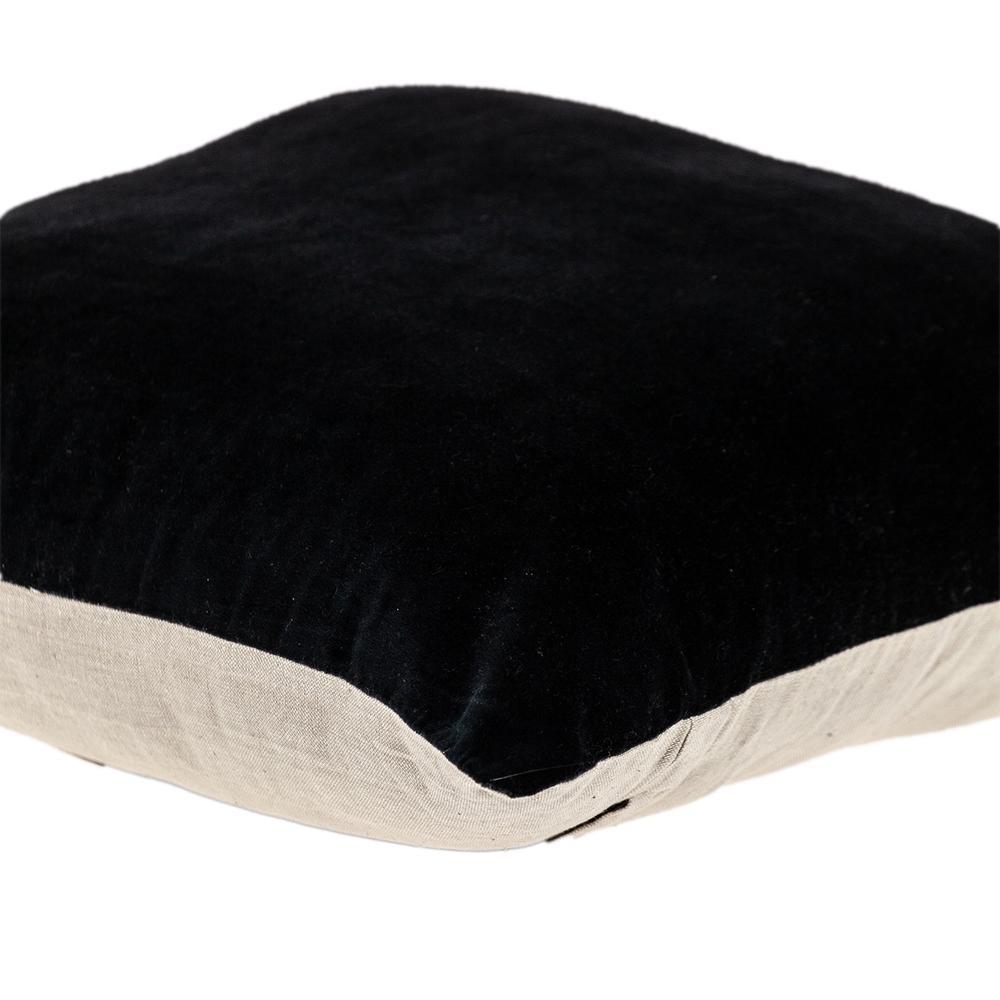 Black Velvet Two Tone Throw Pillow - 383141. Picture 5