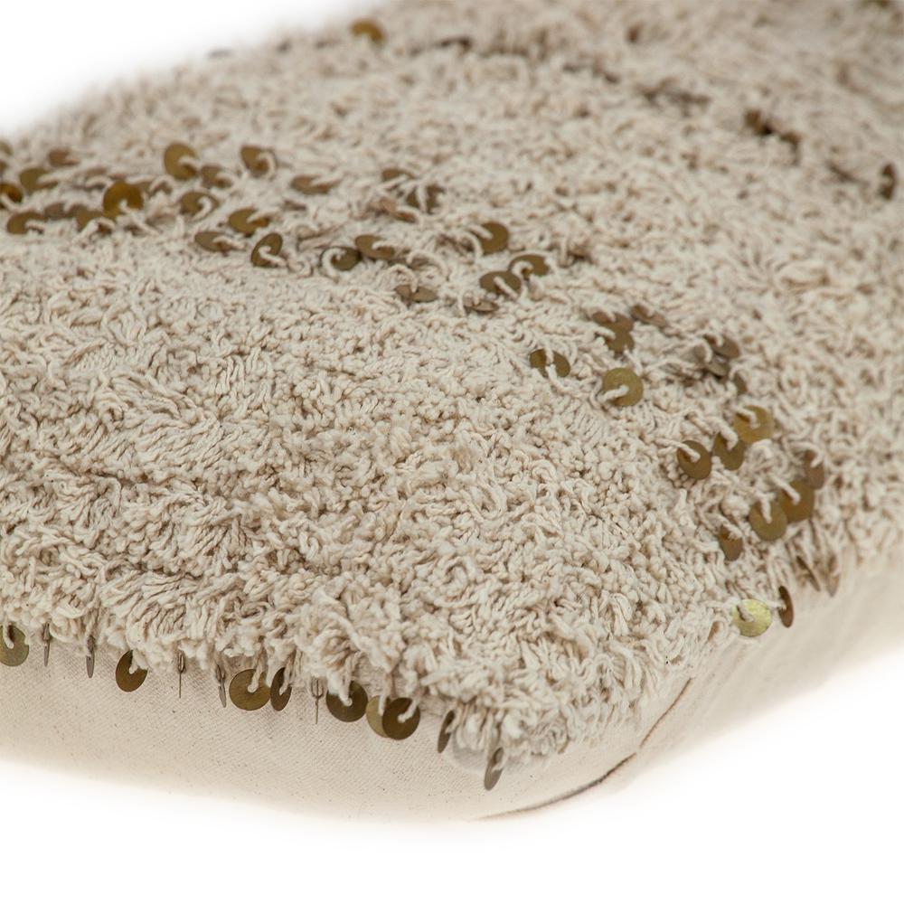 Boho Woven Shaggy Sequin Lumbar Pillow - 383144. Picture 5