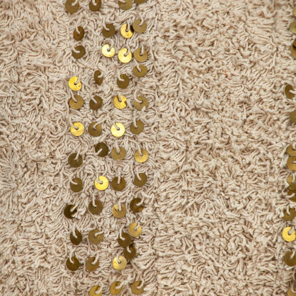Boho Woven Shaggy Sequin Lumbar Pillow - 383144. Picture 6