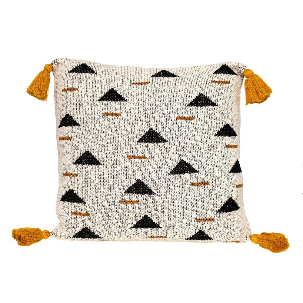 Natural Knitted Throw Pillow - 383148. Picture 1