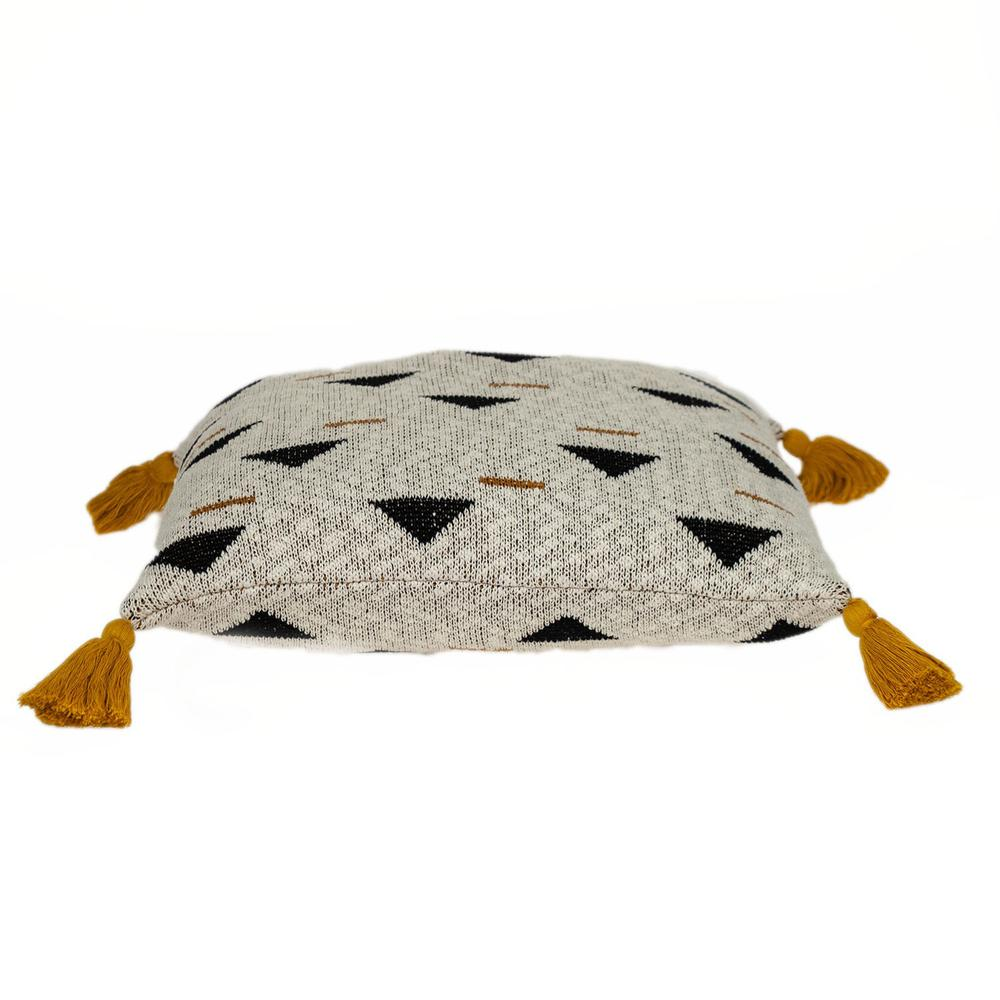Natural Knitted Throw Pillow - 383148. Picture 4
