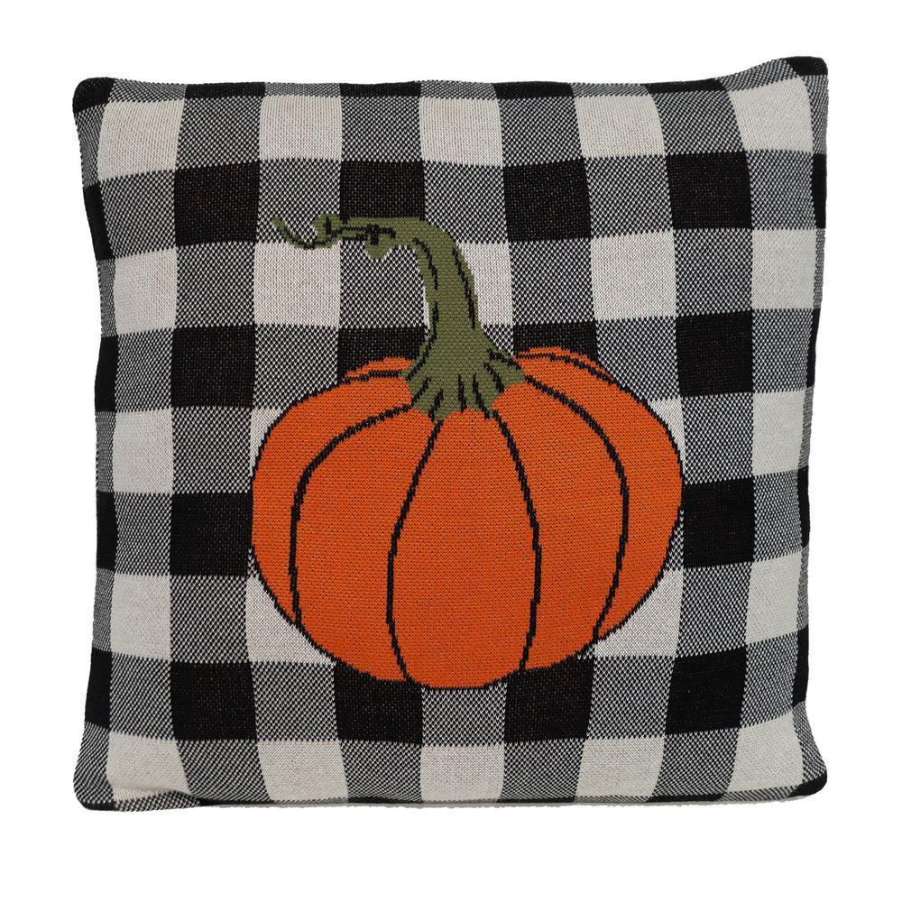 Buffalo Check Pumpkin Throw Pillow - 383149. Picture 3