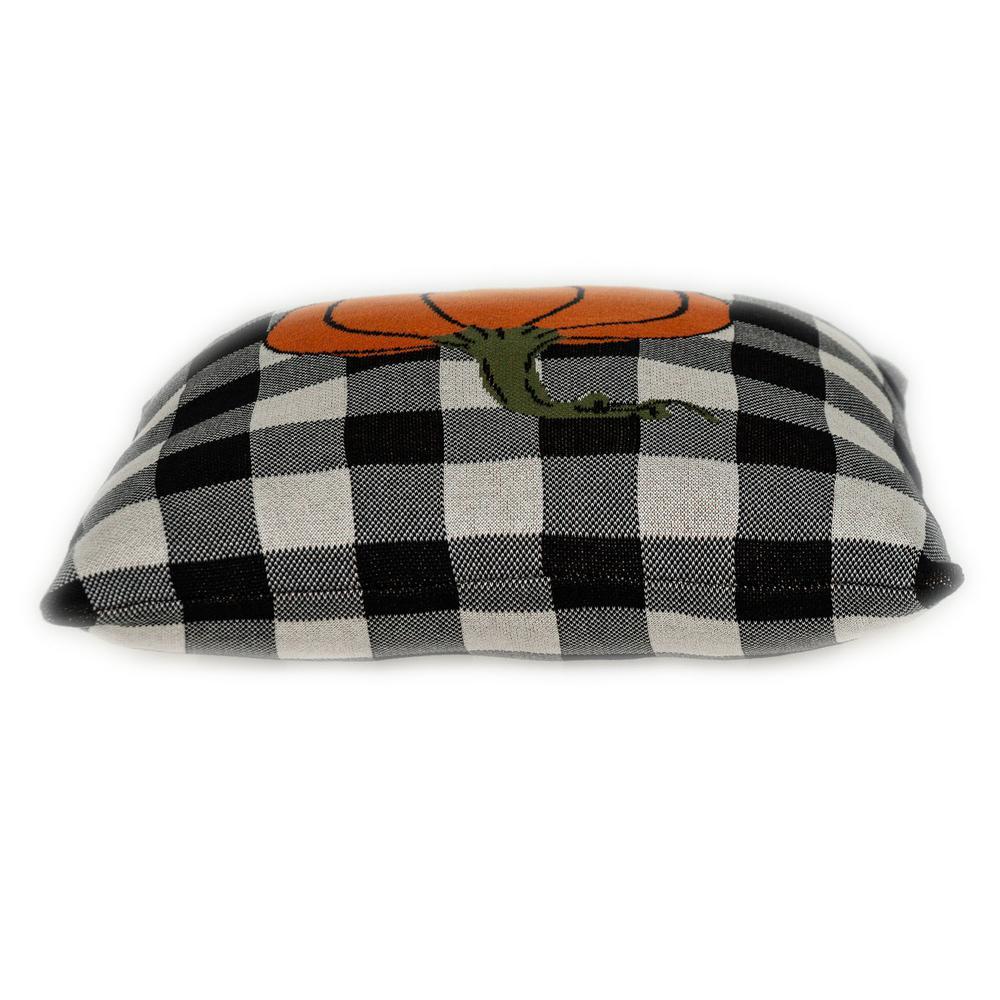 Buffalo Check Pumpkin Throw Pillow - 383149. Picture 4