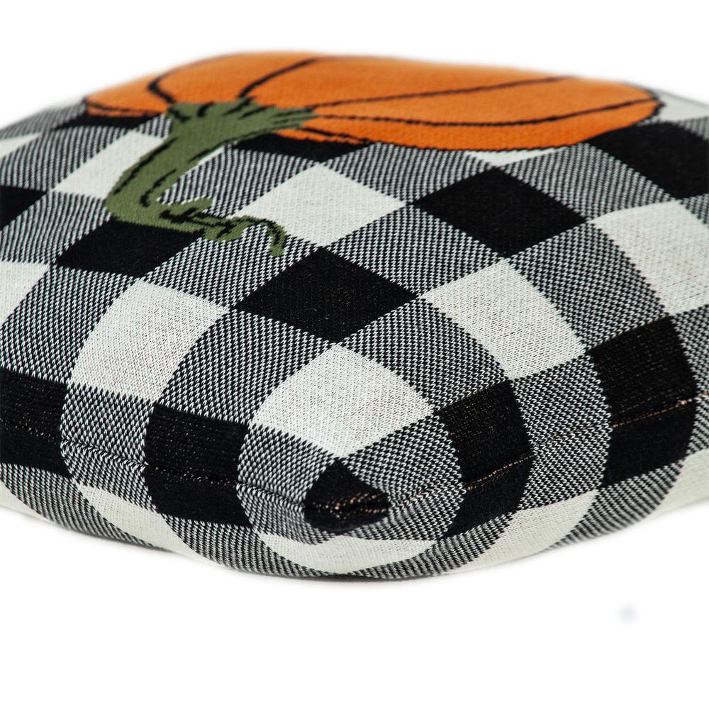 Buffalo Check Pumpkin Throw Pillow - 383149. Picture 5