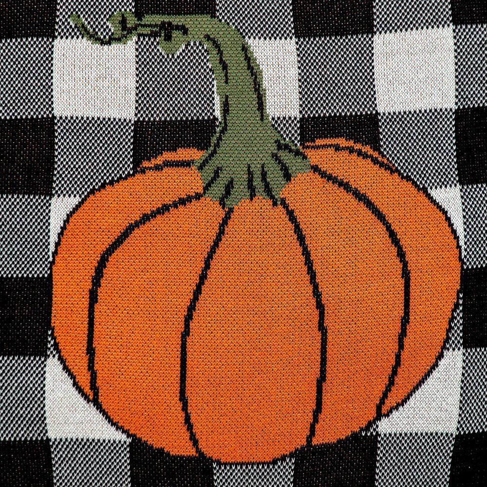 Buffalo Check Pumpkin Throw Pillow - 383149. Picture 6