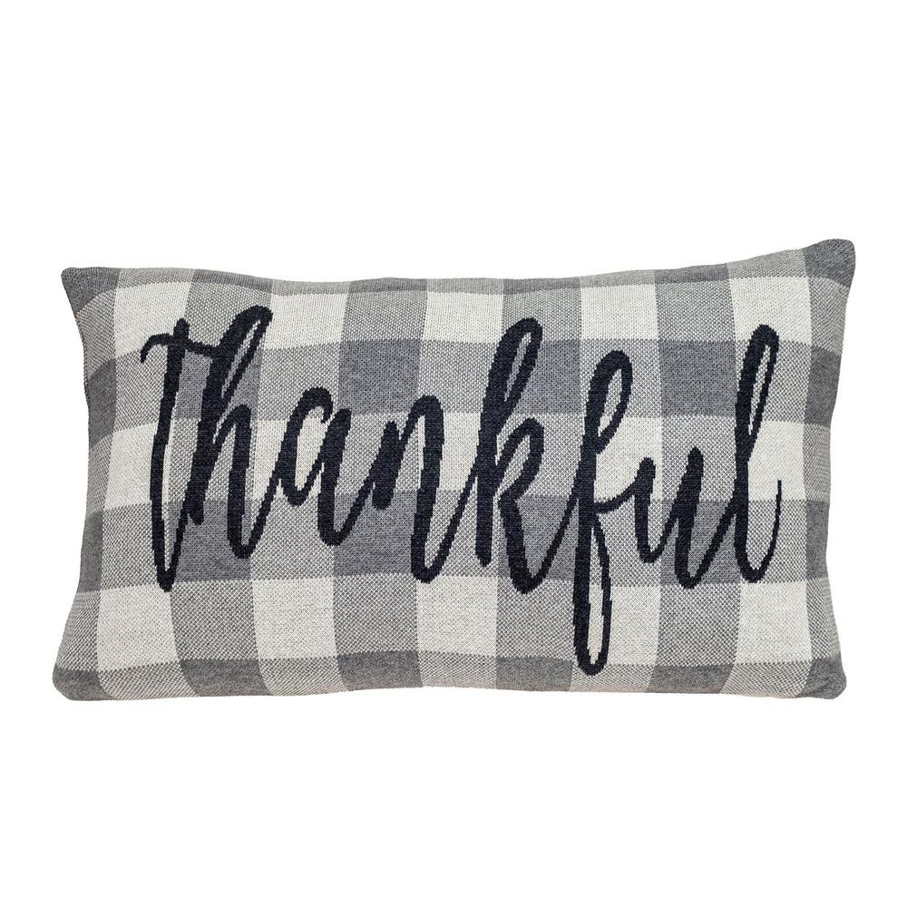 Thankful Buffalo Plaid Lumbar Throw Pillow - 383152. Picture 1
