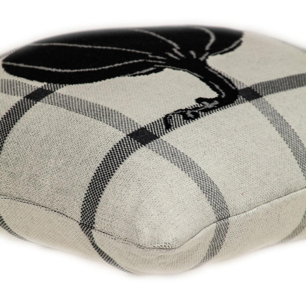Grey Plaid Pumpkin Throw Pillow - 383153. Picture 5