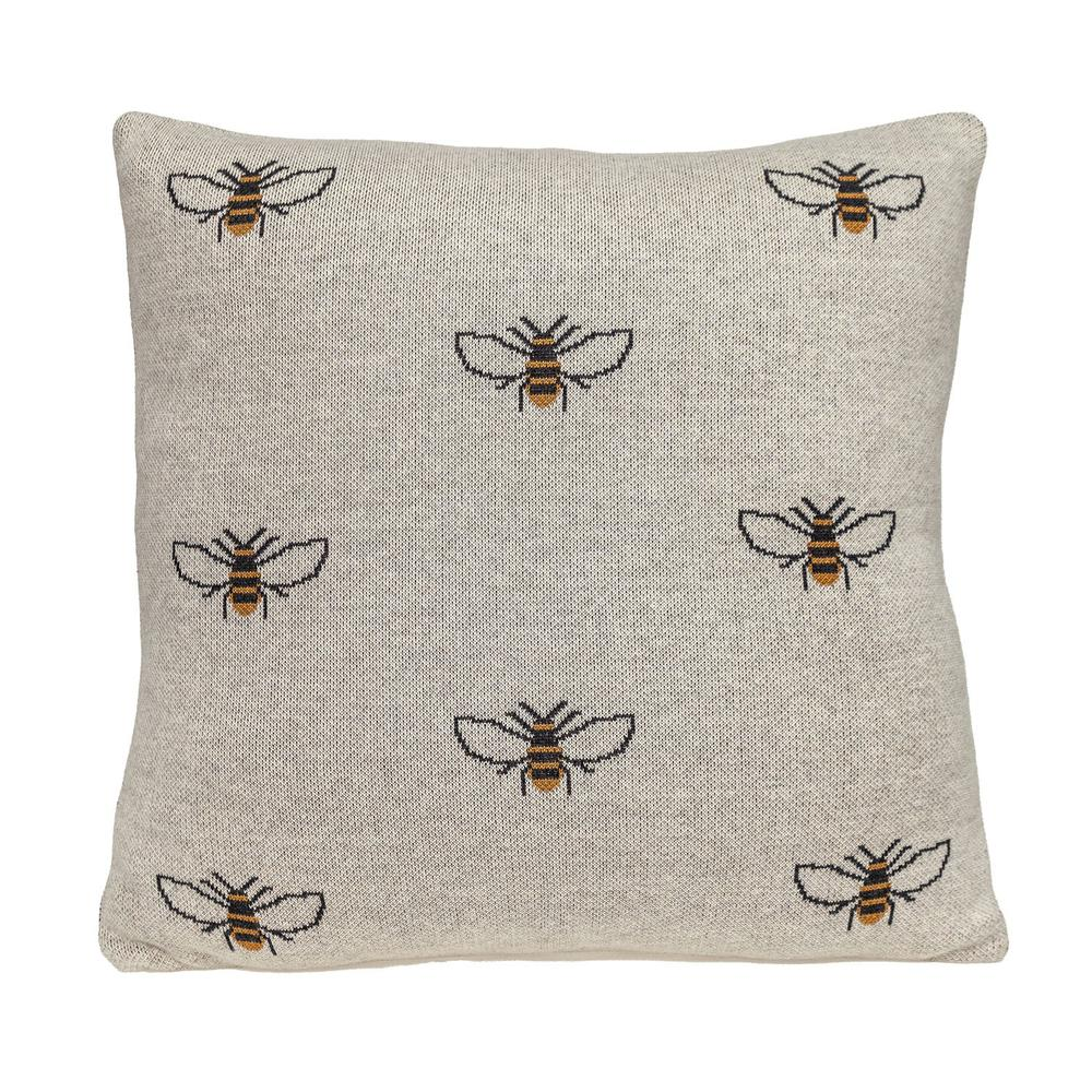 Linen Bumblee Throw Pillow - 383157. Picture 3
