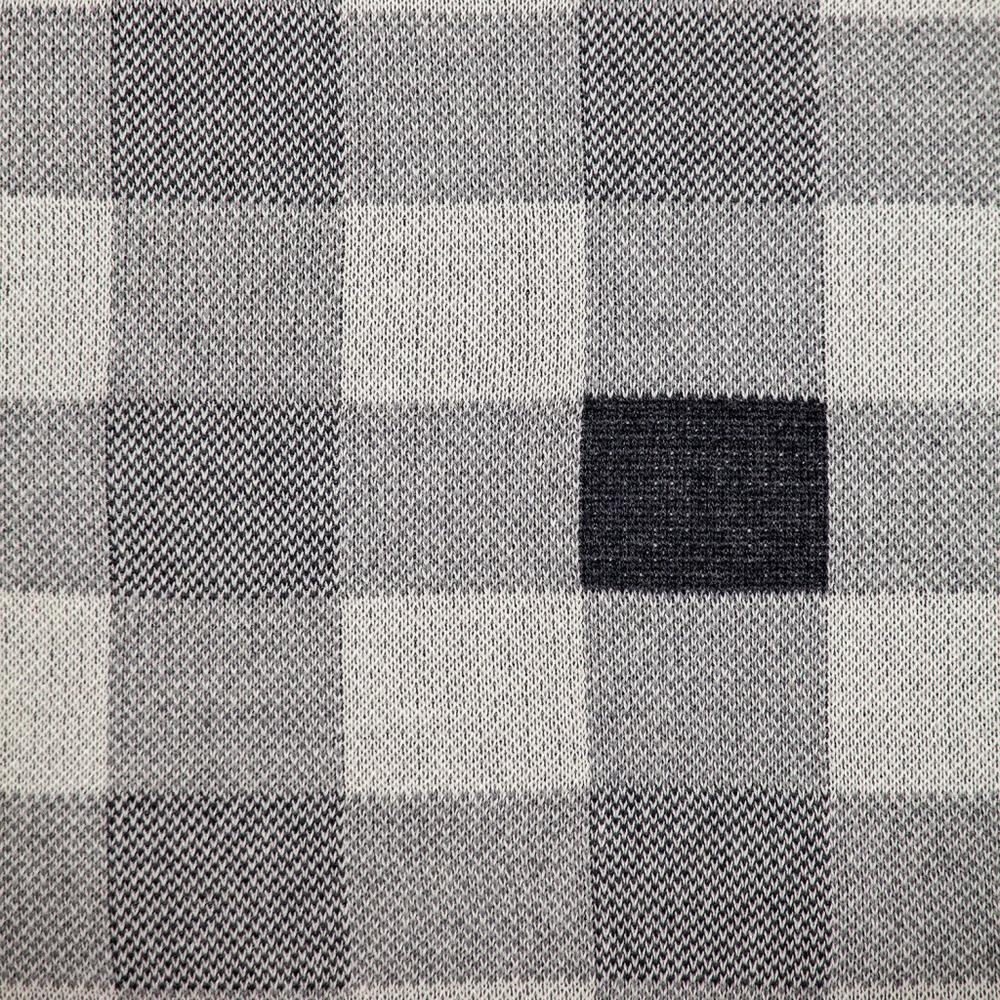 Lead Grey Checkered Pillow - 383165. Picture 6
