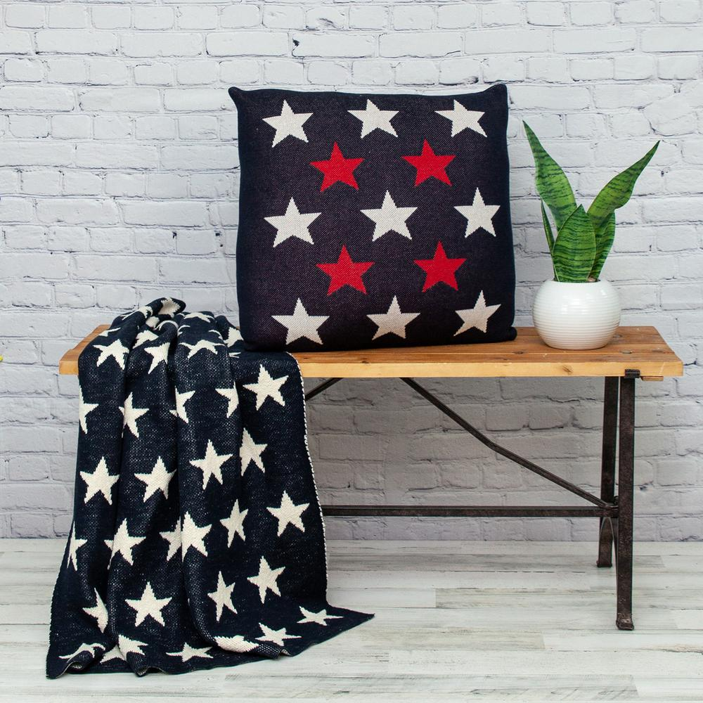 Americana Stars Throw Pillow - 383170. Picture 2