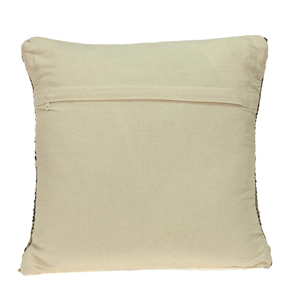 Black and Sand Woven Decorative Pillow - 383173. Picture 3