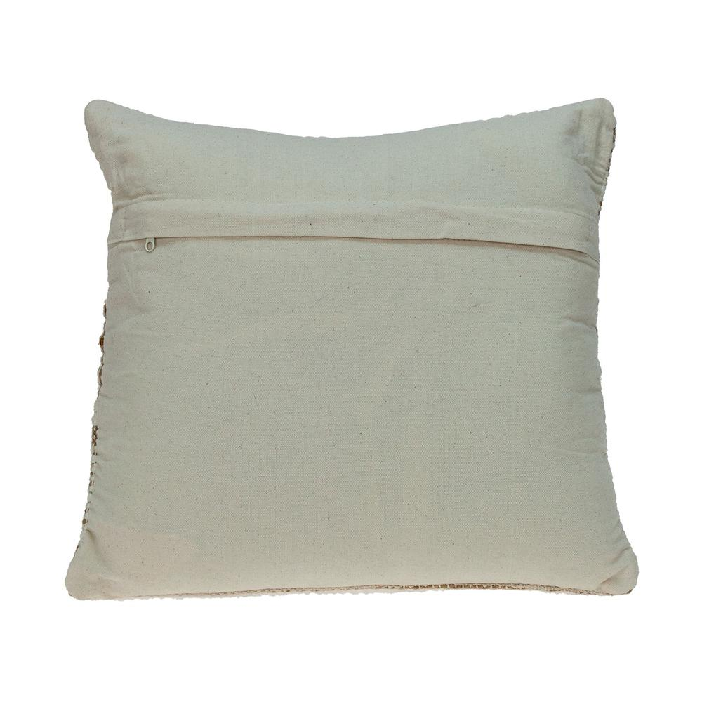 Linen and Brown Jute Throw Pillow - 383176. Picture 3