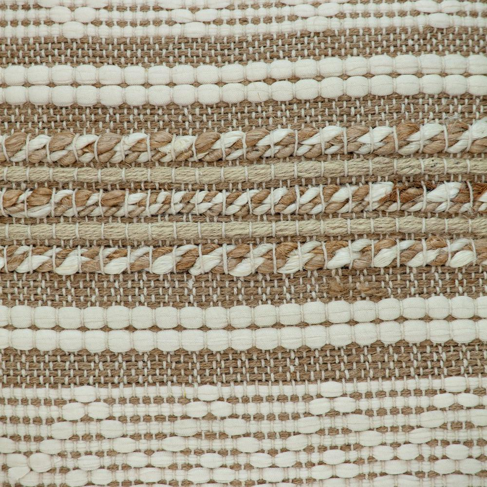 Linen and Brown Jute Throw Pillow - 383176. Picture 6