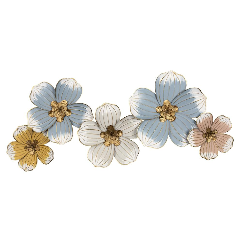 Pastel and Gold Floral Metal Wall Decor - 383223. Picture 1