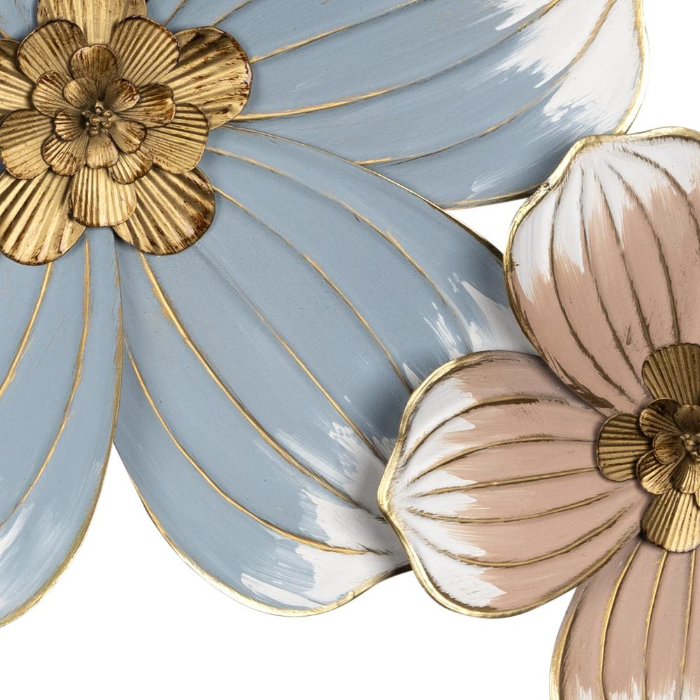 Pastel and Gold Floral Metal Wall Decor - 383223. Picture 3