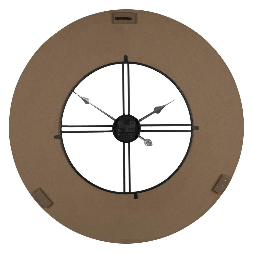 Industrial Chic Wood and Metal Wall Clock - 383224. Picture 5