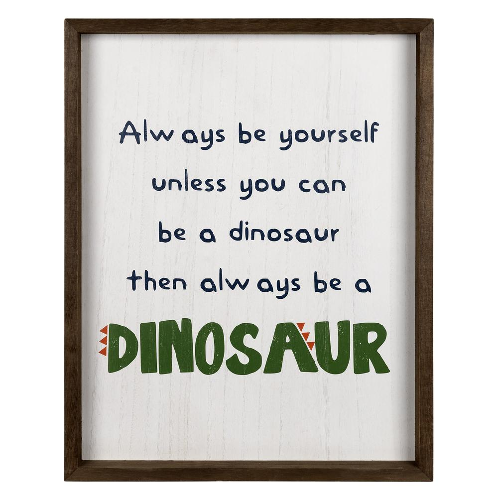Be A Dinosaur Wooden Wall Art - 383226. Picture 1