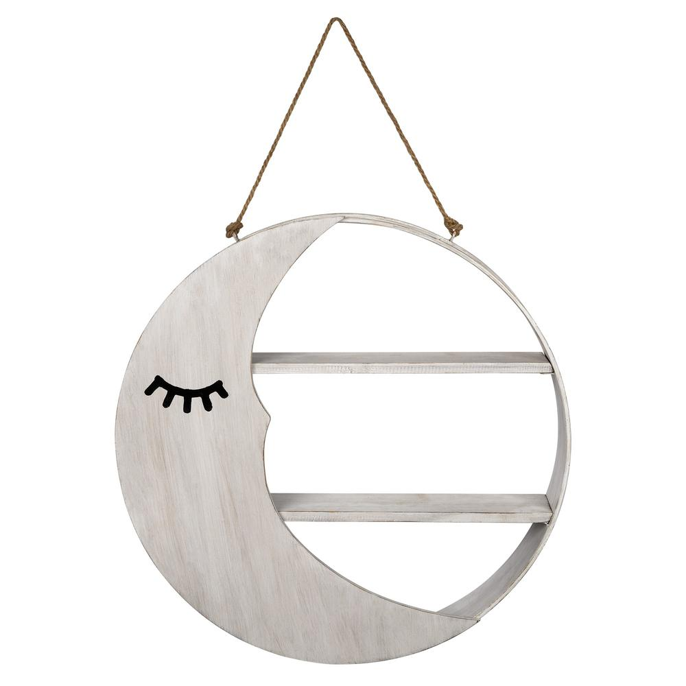 Good Night Mr. Moon Wooden Wall Shelf - 383227. Picture 1