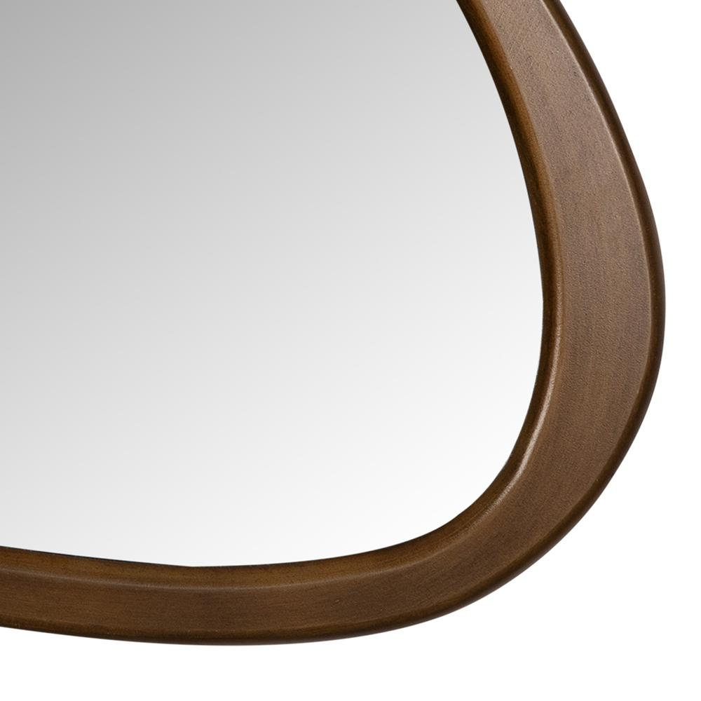 Asymmetrical Wooden Wall Mirror - 383228. Picture 3